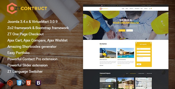 ZT Construction Building Business Joomla Template - Business Corporate