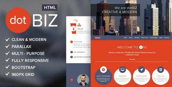 dotBIZ   Multi-Purpose Parallax Landing Page