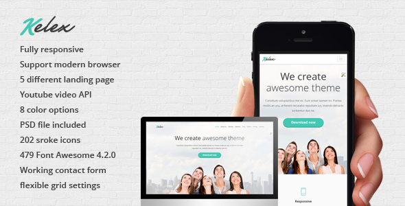 Kelex - Clean and Modern Landing Page - Landing Pages Marketing