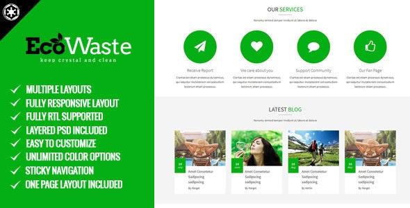 EcoWaste - Environmental HTML5 Theme - Environmental Nonprofit