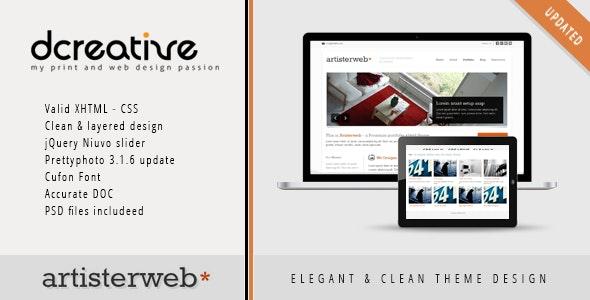 Artister - XHTML Portfolio, Agency Clean Theme - Portfolio Creative