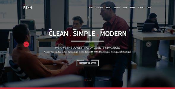 Rexn - Responsive One Page Multi-Purpose Parallax