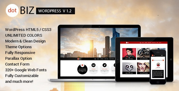 dotBIZ - WordPress Responsive OnePage Parallax  - WordPress
