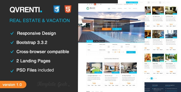 Qvrenti - Responsive Real Estate HTML5 Template - Retail Site Templates