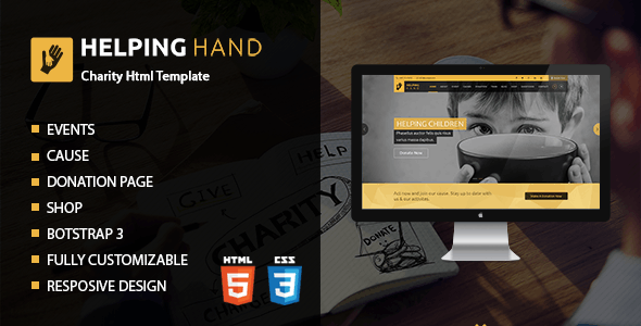 Helping Hand | Charity Donation HTML Template - Charity Nonprofit