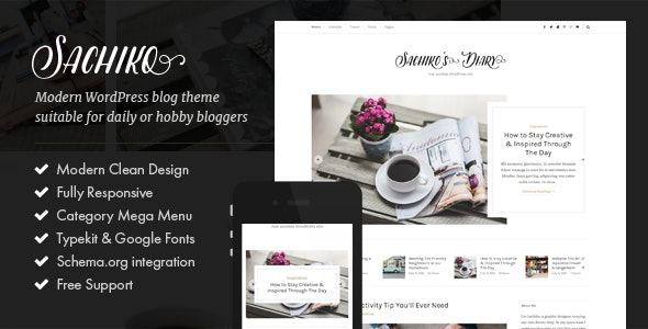 Sachiko - Responsive WordPress Blog Theme - Personal Blog / Magazine