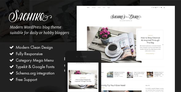 Sachiko - Responsive WordPress Blog Theme