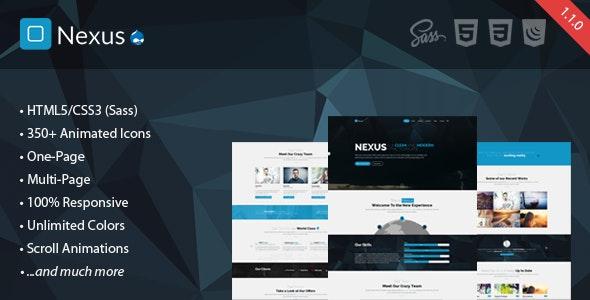 Nexus - Multi/One-Page Business Drupal 7.6 Theme - Corporate Drupal