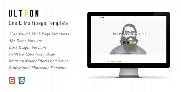 Ultron - Responsive One & Multi Page HTML Template - Portfolio Creative