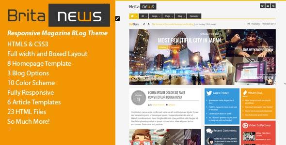 BritaNews -  Animated HTML5 & CSS3 News/Magazine - Miscellaneous Site Templates