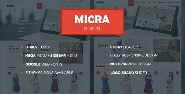 Micra - Multipurpose eCommerce HTML Template - Shopping Retail