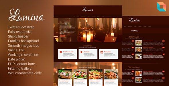 Lumina - Responsive Restaurant Website Template
