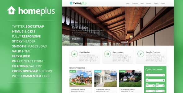 Homeplus - Responsive Real Estate Template - Business Corporate
