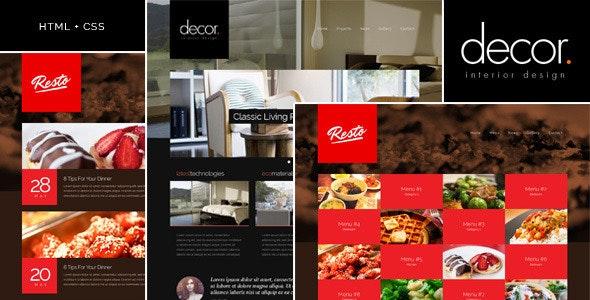 Decor - Responsive Interior Design Template - Business Corporate