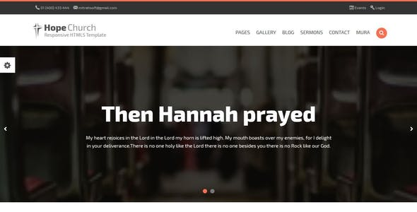 Download Hope - Church Responsive HTML5 MuraCMS theme
