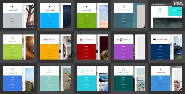 Vertical Menu Website Templates From Themeforest