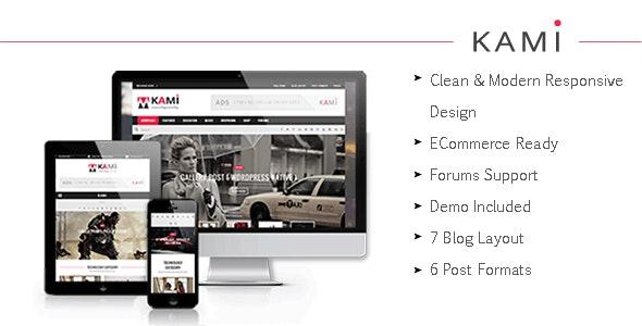 KAMI - Creative Magazine and Blog Drupal 7.6 Theme - Blog / Magazine Drupal