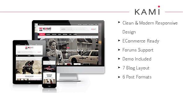 KAMI - Creative Magazine and Blog Drupal 7.6 Theme