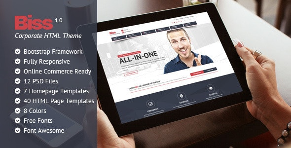 Biss Corporate HTML  Themplate - Business Corporate