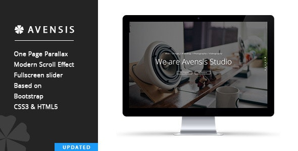 Avensis - One Page Responsive Parallax Template - Creative Site Templates