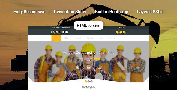 Construction - Industrial HTML5 Template