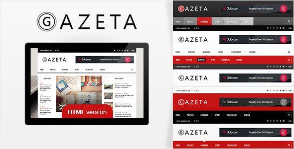 Gazeta 2 - Responsive News HTML Template - Entertainment Site Templates