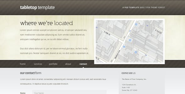 Tabletop HTML Template - 5 Pages, 5 Colors