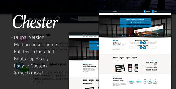 Chester Multi-Purpose And Software Drupal 7 Theme - Drupal CMS Themes