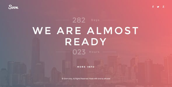 Soon - Responsive Coming Soon HTML Template