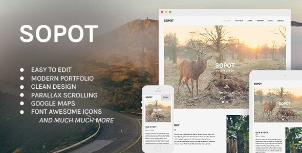 Sopot - Modern Muse Template - Creative Muse Templates