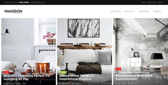 Interior Design WordPress Theme - MADISON II