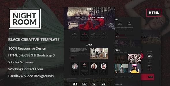 Night Room Creative Dark Template - Creative Site Templates