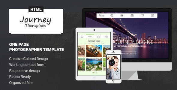 Journey - One Page Photographer Template - Photography Creative