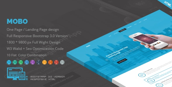 Mobo - One Page App Landing Page - Creative Landing Pages
