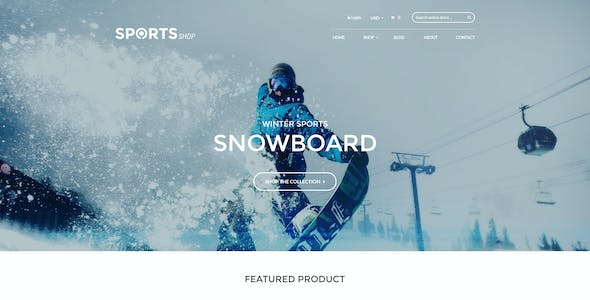 Bootstrap Shopify Theme Winter Sports & Outdoors