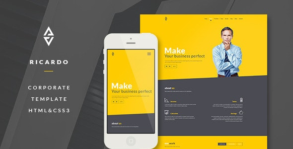 Ricardo - Corporate One Page Template - Corporate Site Templates