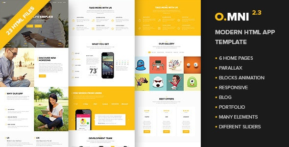 Omni - Modern HTML App Template - Software Technology
