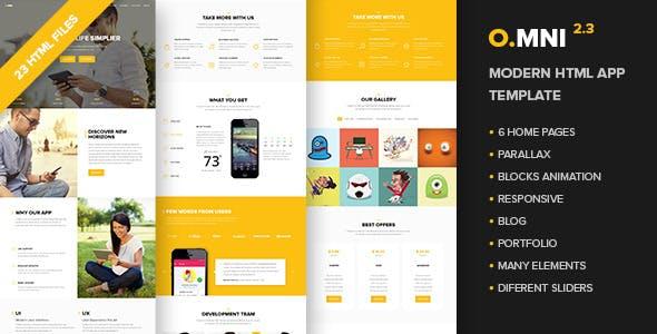 Omni - Modern HTML App Template