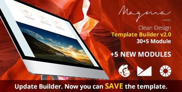 Magma Email Template + EmailBuilder - Newsletters Email Templates