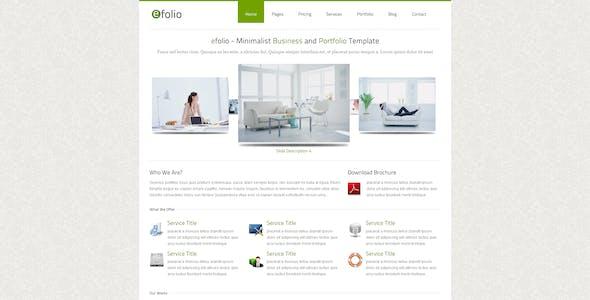 efolio - Business and Portfolio HTML Template