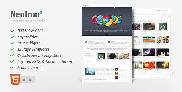 Neutron - HTML5 Template - Creative Site Templates