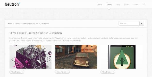 Neutron - HTML5 Template