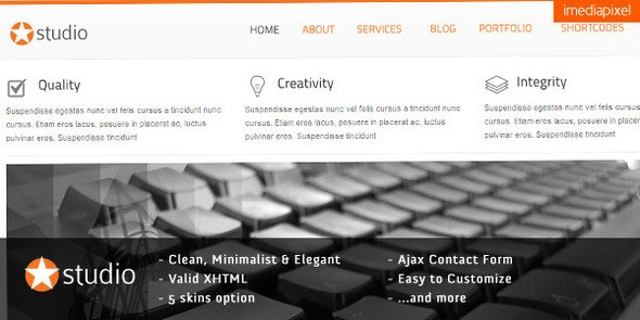 istudio - Clean and Minimalist Business Template - Corporate Site Templates