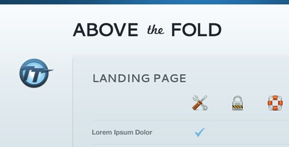 Above The Fold — Compact Landing Page - Corporate Landing Pages