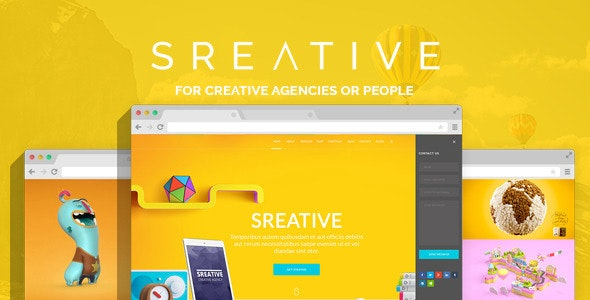 Sreative | Digital Agency PSD Theme - Creative Photoshop