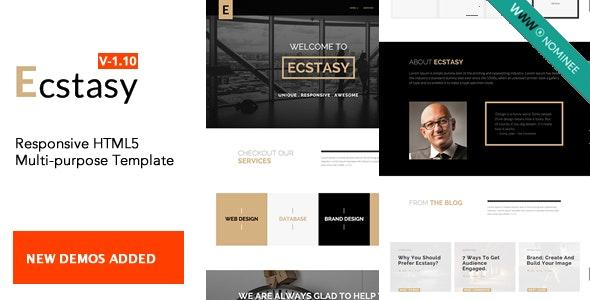 Ecstasy - Responsive HTML5 Multi-purpose Template - Corporate Site Templates