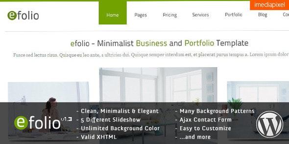efolio - Business and Portfolio WordPress Theme - Business Corporate
