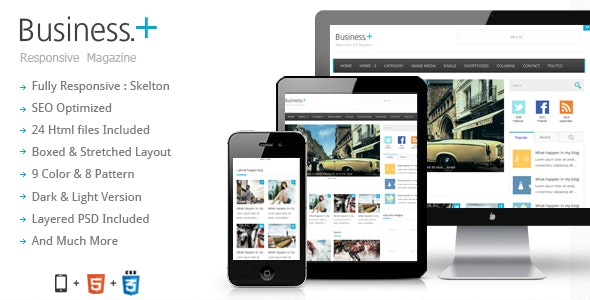 Business : Magazine / Blog Theme - Creative Site Templates