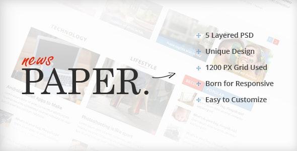 News Paper - The PSD Magazine - Creative Photoshop