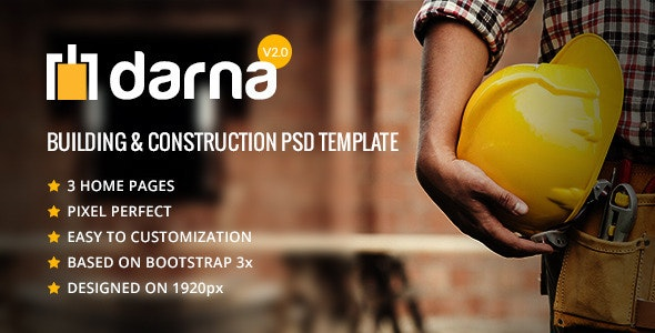 Darna-  Building & Construction PSD Template - Business Corporate